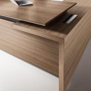 edge escritorio esquina nogal